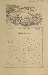 Advert for the 'Reporters Journal'